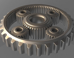 Gears 3D model animated