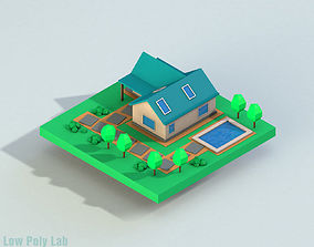 3D model Low Poly City House 1