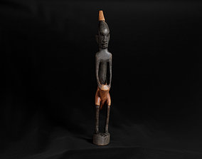 3D model realtime Decoration - African Statue 02 -