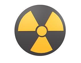 3D asset Radiation Symbol v1 004