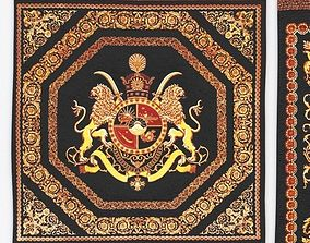 3D asset Ghom silk carpet Sighned Vafai