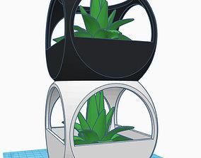 STACKABLE MINIMALIST PLANT POT 3D