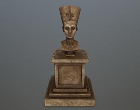 3D model low-poly Nefertiti
