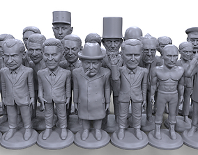 Political stylized high quality 36 3D printable 1