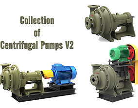 3D model Collection of Centrifugal Pumps V2