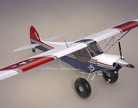 Piper Super Cub Bushplane Civil Air Patrol 3D asset