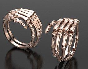 Skull hand ring 3D printable model