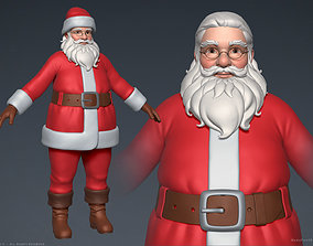father-christmas Santa Claus 3D
