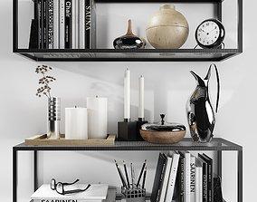 Shelves Kristina Dam with decorative filling 3D