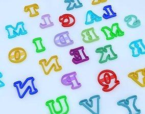 Cookie cutter - Alphabet Eng 3D printable model