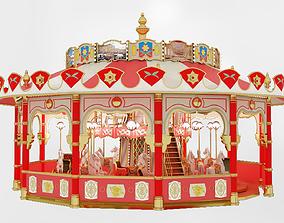 3D model carousel exterior
