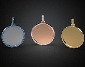 3D print model Jewelry pendant Medal blank