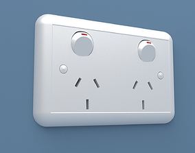 POWERPOINT WALL SOCKET 3D