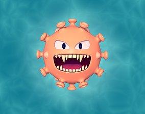3D model Cartoon Virus Character