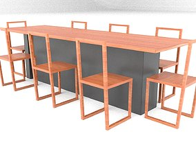 3D model Dining Table From Parasite Movie