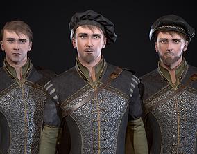 3D model Burgher Medieval aristocrat