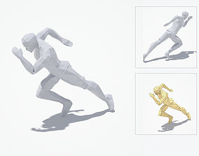 3D asset Runner Low Poly Sport Pose
