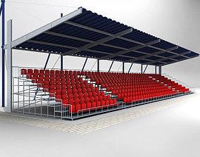 Stadium Seating Tribune Canopy 2 3D model