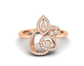 jewellery Women Ring 3dm stl render detail