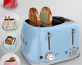 Smeg Toaster TSF03 Blender Cycles 3D model