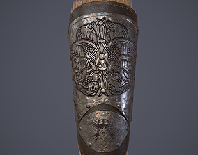 3D asset Viking Fur Lined Bracers