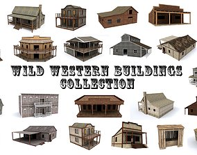 Western Buildings Collection 3D