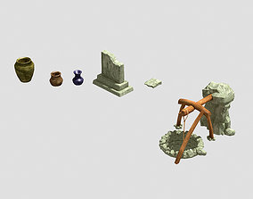 3D Dynasty Wells - Stele - Cans