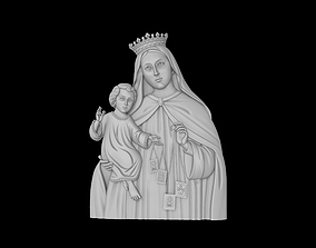 3D print model Mother Mary with Child Jesus