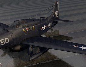 Douglas EA-1E or AD-5W Skyraider 3D