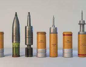 3D model Tank missile