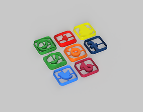 3D print model Social Media Icons Cookie Cutter