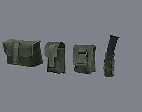 Molle pouches pack 3D model