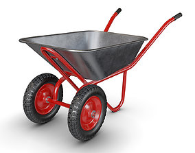 Wheelbarrow Red 3D model