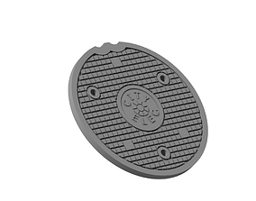 Drink coaster - Chicagos manhole cover 3D printable model