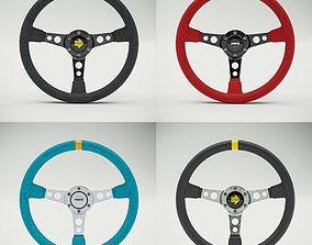 3D model MOMO Style Racing Steering Wheel in 4 colour
