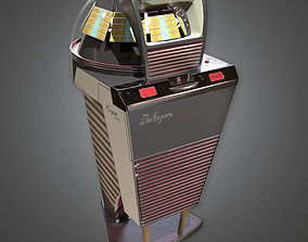 Retro Jukebox Midcentury Collection PBR Game 3D model