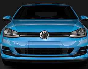 Volkswagen Golf 7 TSI 5D 2016 3D model