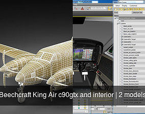 3D Beechcraft King Air c90gtx and interior