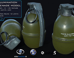 MK1 Illumination Hand Grenade Game Ready 2 LODs 3D model