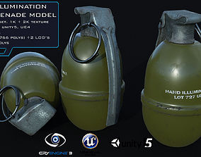 MK1 Illumination Hand Grenade Game Ready 2 LODs 3D model