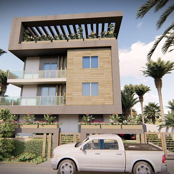Facade design of a villa R + 3