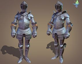 Ornamental Plate Armour 3D asset rigged