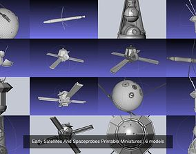 Early Satellites And Spaceprobes Printable Miniatures 3D
