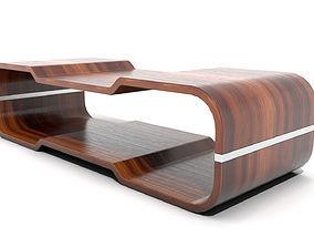 3D model Ridged Rectangular Coffee Table