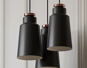 3D model Stile 1-Light Bell Pendant by VERSANORA