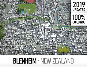 Blenheim - city and surroundings 3D model