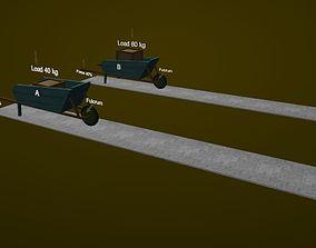 Second class lever 3D