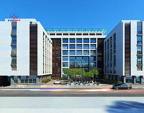 Office Building 2 Options 3D