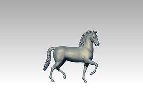 Horse ride mustang 3D printable model