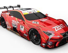 3D asset Lexus LC500 SuperGT JGTC
